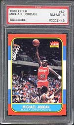 1986 Fleer Michael Jordan PSA NM-MT 8.