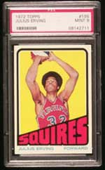 1972 Topps Dr. J rookie card