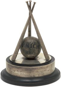 1853 New York Knickerbockers Trophy Ball - sold for $161,992.00.