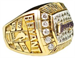 Kobe Bryant Lower Lakers Championship Ring
