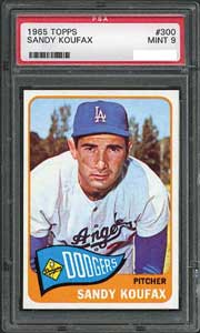 This 1965 Koufax sold for $2,928