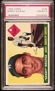 1955 Topps Sandy Koufax rookie card