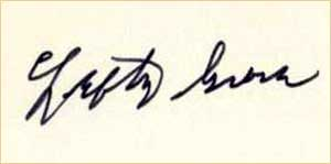 3 x 5 Lefty Grove signature