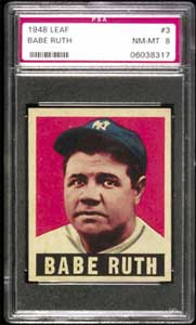 1948 Leaf Babe Ruth PSA 8