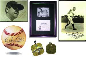 Leland's auction included interesting Babe Ruth items.