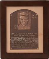 Jackie Robinson's Original 1962 Hall of Fame Induction Plaque (ex-Rachel Robinson)