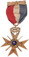 1868 Clipper Medal Presented to George Wright
