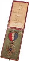 1868 Clipper Medal Presented to George Wright with Case
