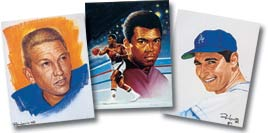 Unitas, Ali and Koufax are just some of the legends to be found in the ''Lewis Line'' and his ''Gridiron Greats'' series.