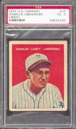 Scarce 1932 U.S. Caramel #16 Fred Lindstrom on the auction block in February