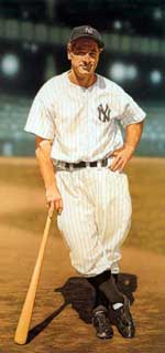 Lou Gehrig courtesy of  A.K. Miller