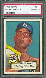 1952 Topps Mickey Mantle PSA NM-MT 8.