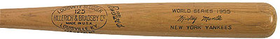 Mickey Mantle H&B bat from the 1955 World Series