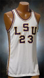 ''Pistol Pete'' Maravich's LSU jersey set a record price for a basketball jersey: $103,500.