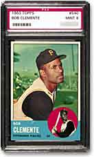 The 1963 Topps Clemente is always in high demand.