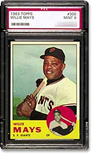 1960's Mays cards have escalated in price over the last two years.