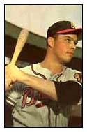 1953 Bowman Eddie Mathews #97.