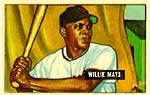 A 1951 Bowman Willie Mays #305 is one of the most valuable rookie cards,<br> valued at $21,000.