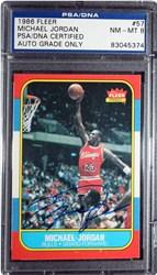 Michael Jordan Autographed Card
