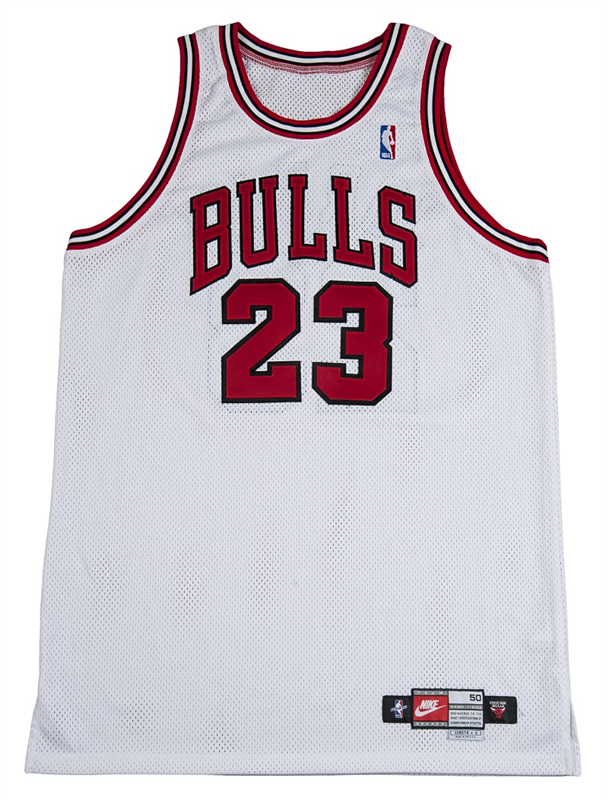 new arrival b7239 45236 Michael Jordan's Last Bulls Regular-Season Game Jersey and ...