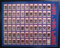 'No one at my local cards shops had ever seen anything like it,' Michelin says of the presentation of his Fleer set.