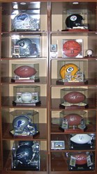 Along with cards, Michelin also collects signed footballs, baseballs, basketballs, helmets and photos.
