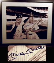 Mickey Mantle – 1956 Triple Crown Winner – Autographed 16
