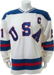 Mike Eruzione's 1980 'Miracle on Ice' game worn jersey
