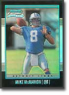 Mike McMahon 2001 Bowman Chrome rookie card