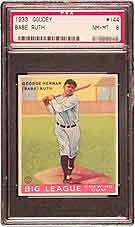 1933 Goudey Ruth (PSA NM-MT 8) realized $28,050.