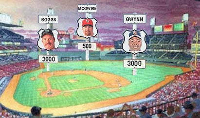 Wade Boggs, Mark McGwire and Tony Gwynn -- three baseball players making 1999 the Year of the Milestone.