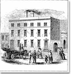 An engraving of the San Francisco Mint 1854.