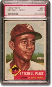 1953 Topps Satchell Paige #220 MINT 9 card.