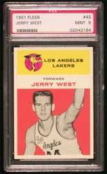 1961 Fleer Jerry West #043 MINT 9