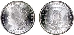 1885-CC MS66 Morgan Dollar.
