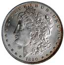 1890-P MS65 Morgan Dollar.