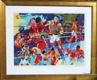 LeRoy Neiman Signed Very Limited Edition Serigraph – 'Homage to (Muhammad) Ali'
