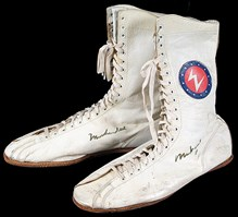 Muhammad Ali 'Rumble in the Jungle' Fight-Worn Shoes