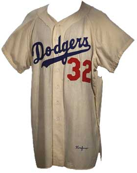 1955 Sandy Koufax jersey.