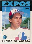 Galarraga's 1986 Topps Traded Tiffany #40<br>is currently valued at $75<br>in PSA Gem Mint 10.