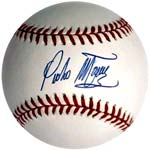 One of the baseballs signed by Martinez <br>and subsequently authenticated by PSA/DNA.