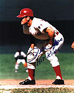 A Pete Rose signed photo.