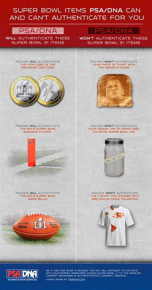 PSA/DNA Authenticate Super Bowl Items