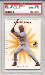 Albert Pujols is right behind Ichiro in the PSA-Graded Baseball Rookie Card market.