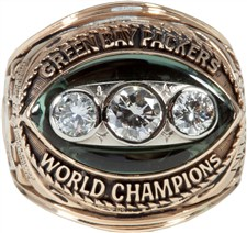 Ray Nitschke's Original 1967 Green Bay Packers Super Bowl II Championship Ring - Sold For: $91,151