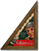 Colgan's Chip advertising sign featuring Honus Wagner: sold for $23,000