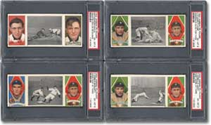 Near-complete T202 Hassan Triple Folder set: sold for $63,250