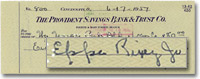 1957 Canceled Check