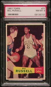 1957-58 Topps Bill Russell rookie card