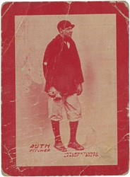 Babe Ruth Baltimore card